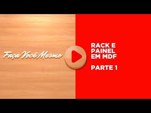 Curso de Marcenaria Grátis Aula 01/13 - Rack Painel MDF 1 -  Desenhos Faça Você Mesmo PaP