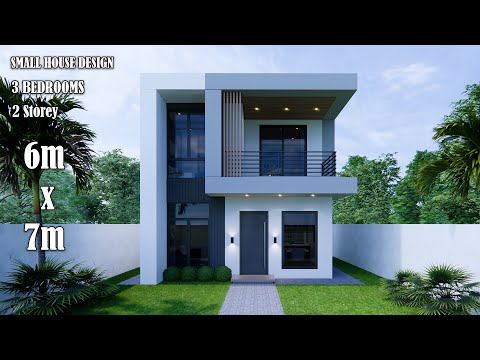 Small House Design | Modern House 2 Storey  | 6m x 7m with 3 Bedroom