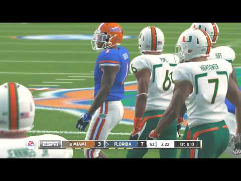 (Miami Hurricanes Vs Florida Gators) SEC (NCAA Football 20 2019 2020 Season) PS3