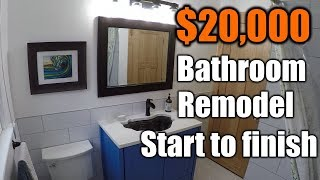 $20,000 Bathroom Remodel Start To Finish | THE HANDYMAN |