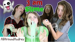 Hey guys! In today's video my friends and I will be making slime at 3 AM! It was a lot of fun to make the slime with my friends until everything took a turn for the worse. Don't make slime at 3 in the morning, it is super scary! Special thanks to Ellie, Abbey, Laurel, and Libbie for being in this video! __Subscribe for videos every Thursday!☆http://www.youtube.com/channel/UCS0kA-D1M87dDfkWRl_DLJA?sub_confirmation=1Comment down below your favorite part of the video!♡Like this video if you enjoyed!Here are some more videos I think you might like:Operation Slime Challenge: https://www.youtube.com/watch?v=FycQVuqxORwCoke and Mentos Challenge: https://www.youtube.com/watch?v=ZZD0C2Fu-vsLip Retractor Challenge: https://www.youtube.com/watch?v=IXKf89bTx_EFast Food Fondue Challenge: https://www.youtube.com/watch?v=oUgfiExrN4URainbow Ice Bath Challenge: https://www.youtube.com/watch?v=sM8tujZbsLUNever Have I Ever: https://www.youtube.com/watch?v=n340lu1BIpYTwisted Twister:  https://www.youtube.com/watch?v=XzR_twNyxSEHungry Hungry Hippos Game Twist: https://www.youtube.com/watch?v=Z0kuKpzfh0YFamily Lip Retractor Challenge: https://www.youtube.com/watch?v=y_ridJVmS8EYou can send fanmail! AllAroundAudreyP.O. Box 6792N. Logan, Utah 84341__Follow Me On:Instagram- https://instagram.com/allaroundaudrey/Twitter- https://twitter.com/AllAroundAudreyFacebook- https://www.facebook.com/AllAroundAudrey?ref=profilePinterest- https://www.pinterest.com/allaroundaudrey/Musical.ly- AllAroundAudreyYouNow: AllAroundAudrey__♡ My Sister's Channel: https://www.youtube.com/channel/UCHOMvu3axPhTG5zLqrHynig♡ My Brothers' Channel: https://www.youtube.com/channel/UCCHmMn-aFceiyb81Z-fu-zw♡ Our Family Channel: https://www.youtube.com/channel/UCbZgDzTkBQMkPWYBFESJ3sQ♡ Check Out My Previous Video: https://www.youtube.com/watch?v=qqDVvfZfl4U♡ For Business Inquiries: AllAroundAudrey99@gmail.com__Music Credits:Beginning by Audionautix is licensed under a Creative Commons Attribution license (https://creativecommons.org/licenses/by/4.0/)Artist: http://audionautix.com/Dark Hallway by Kevin MacLeod is licensed under a Creative Commons Attribution license (https://creativecommons.org/licenses/by/4.0/)Source: http://incompetech.com/music/royalty-free/?keywords=Hallway&Search=SearchArtist: http://incompetech.com/Dreamlike by Kevin MacLeod is licensed under a Creative Commons Attribution license (https://creativecommons.org/licenses/by/4.0/)Source: http://incompetech.com/music/royalty-free/index.html?isrc=USUAN1100410Artist: http://incompetech.com/Evening of Chaos by Kevin MacLeod is licensed under a Creative Commons Attribution license (https://creativecommons.org/licenses/by/4.0/)Source: http://incompetech.com/music/royalty-free/index.html?isrc=USUAN1300041Artist: http://incompetech.com/__Thanks for Watching!XOXO,Audrey