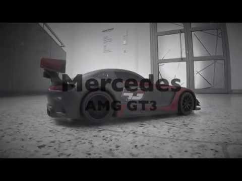 Ferngesteuertes Auto Test Mercedes AMG Gt3 drivt und rauchende Reifen