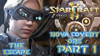Let's Play: StarCraft 2 - Nova Covert Ops - Mission 1 - The Escape - Ghost Reporting