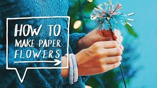 Room Decor | Magazine Flowers DIY | Decorate Your Room (Upcycling) - YouTube