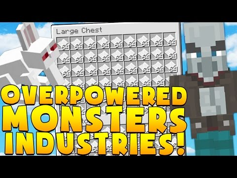 BEST RUSH OVERPOWERED Minecraft MONSTERS INDUSTRIES 2.0 - EPIC SECRET UPDATED MAP