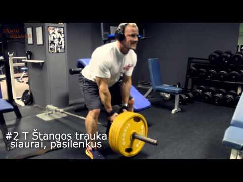 Nugaros ir tricepso treniruotė vyrams
