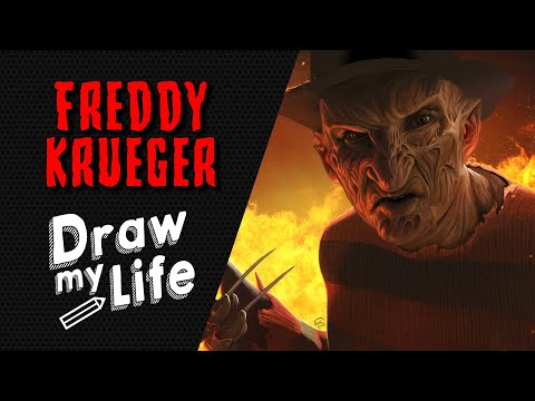 FREDDY KRUEGER - NIGHTMARE 🔪 DRAW MY LIFE (видео)