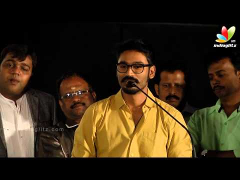 Dhanush Imitates Karthik Voice at  Anegan Audio launch | Harris Jeyaraj, KV Anand , Amyra Dastur