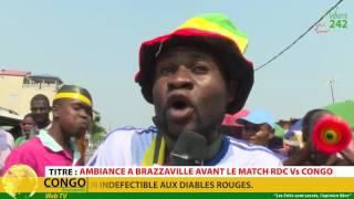 Le match de football RDC vs Congo a suscite une vive émotion de la part du public congolais qui traduisait son soutien...