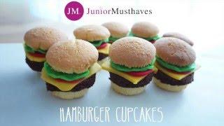 Traktatie inspiratie - Hamburger Cupcakes