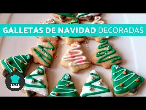 Uñas decoradas - Galletas de Navidad DECORADAS  Receta de galletas den FORMA de ÁRBOL de Navidad