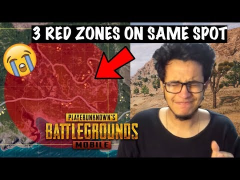 3 Red Zones on the Same Spot - How Unlucky Can I be in PUBG Mobile