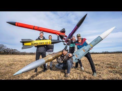 Model Rocket Battle 2 | Dude Perfect - Thời lượng: 7 phút và 55 giây.