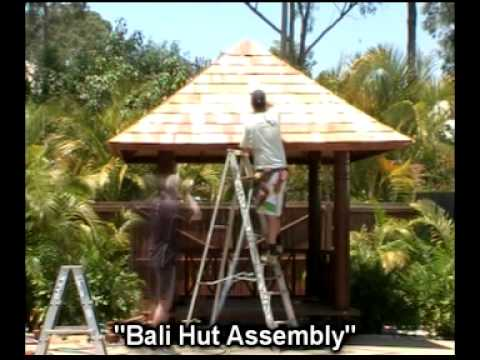 Bali at Home Bali Hut install in under 60 seconds!!