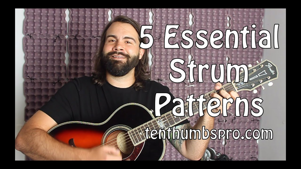 Easy Beginner Guitar Tutorial – 5 Beginner Strum Patterns