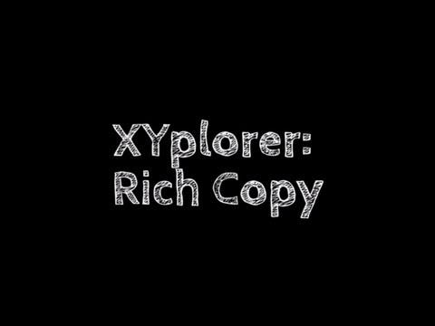 XYplorer Rich Copy