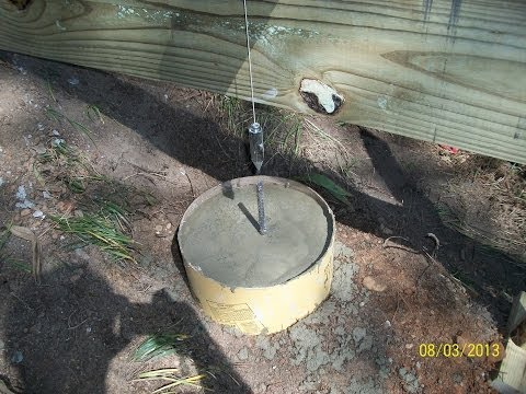 How to pour footings for a deck