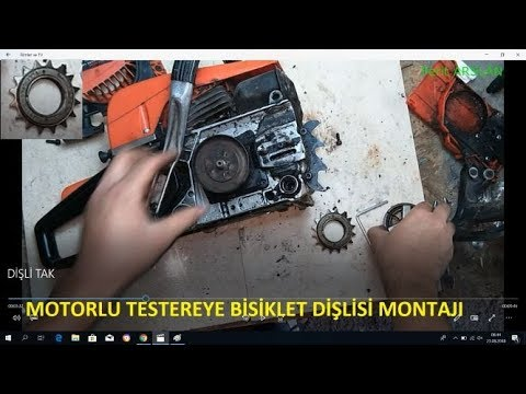 motorlu testereye bisiklet dişlisi montajı ( motor saw blades gear mounting)