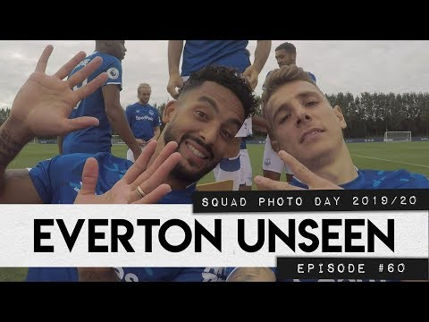 Video: EVERTON UNSEEN #60: SQUAD PHOTO DAY 2019/20, INCLUDING DIGNE CAM!