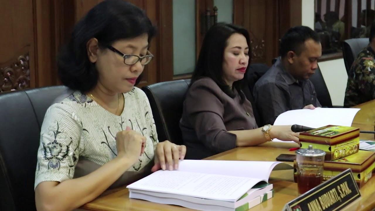 Senin 21 Oktober 2019 Rapat Paripurna Nota Penjelasan APBD 2020