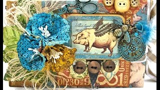 Join me for a video tour of my When Pigs Fly mini album made with Graphic 45's fabulous Olde Curiosity Shoppe Deluxe Collector's Edition. The album has a fun...