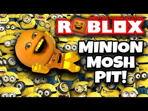 ROBLOX: Escape The Minions #2: MINION MOSH PIT! 🍊💨 [Annoying Orange Plays]