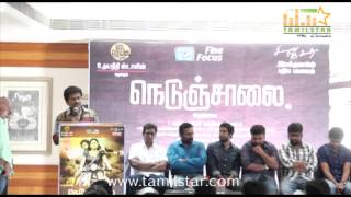 Nobel and Sathya at Nedunchalai Movie Press Meet