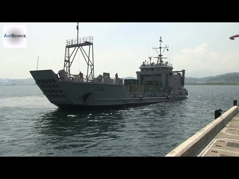 U.S. Army Landing Crafts Arrive at Subic Bay, Philippines