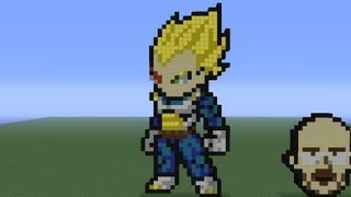 Minecraft Pixel Art: Vegeta tutorial