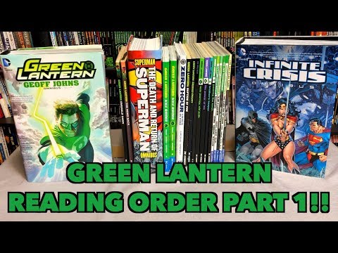 A comprehensive look at the reading order of Green Lantern Part 1!