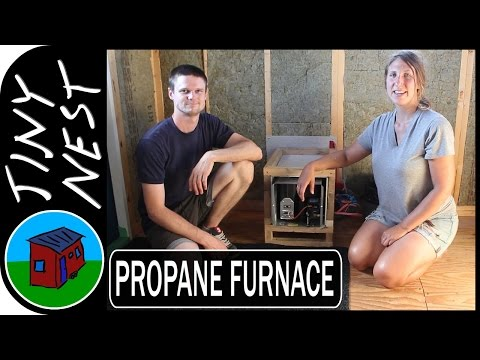 Propane Furnace Installation in a Tiny House (Ep.34)