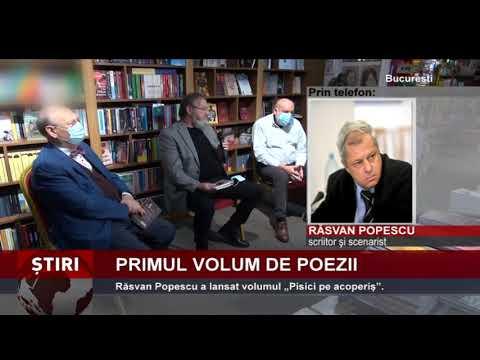 """Scriitorul și scenaristul Răsvan Popescu a lansat volumul de poezii """"Pisici pe acoperiş"""""""