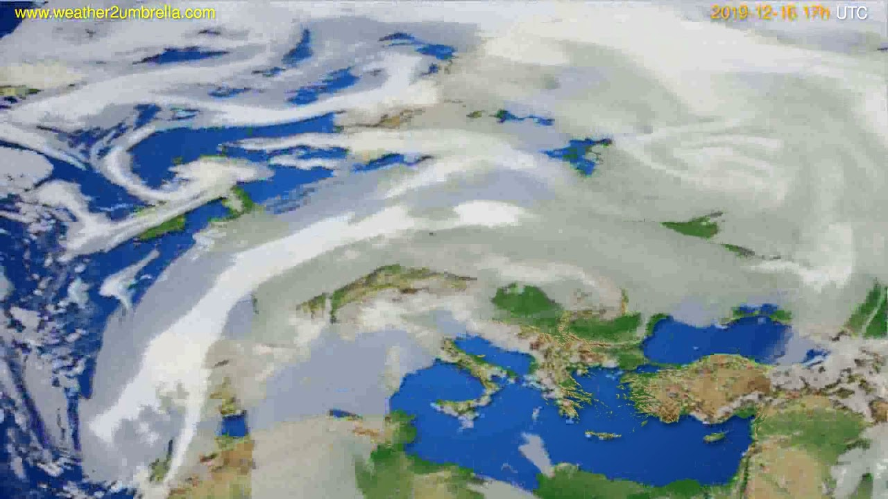 Cloud forecast Europe // modelrun: 12h UTC 2019-12-15
