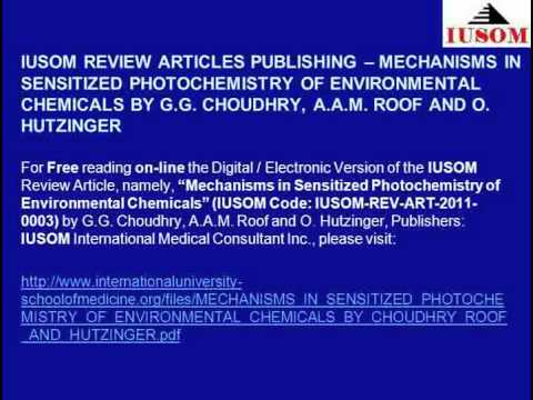 IUSOM REVIEW ARTICLES: MECHANISMS IN SENSITIZED PHOTOCHEMISTRY OF ENVIRONMENTAL CHEMICALS