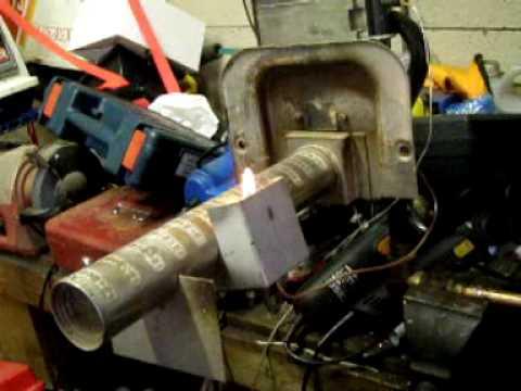 Testing natural gas burner on propane