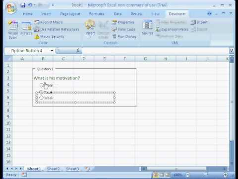 How to Create Evaluation Form Using MS Excel