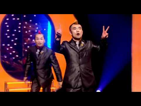 Mime comedy duo, the Gamarjabots. These guys are hilarious (Performance starts at 0:42)