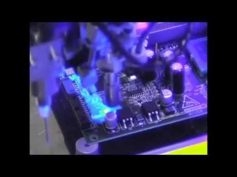 UV conformal coating - Printplaten coaten, conformal coating, printplaten beschermen door het aanbrengen van een coatinglaag en laten uitharden door uv-oven.