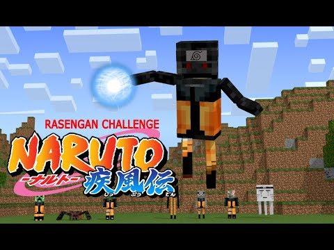 Monster School: Naruto Shippuden Challenge - Rasengan (Minecraft Animation)