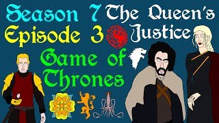 "A brief breakdown of Game of Thrones, Season 7 Episode 3, titled The Queen's Justice, from Daenerys on Dragonstone to the attack on Casterly Rock and Highgarden. Based on the series A Song of Ice and Fire by George R R Martin.Support Civilization Ex with a Monthly Pledge of your choice at:https://www.patreon.com/civilizationexFollow us https://twitter.com/civilizationexVisit our Site: http://www.civilizationex.com/Music By RFGBc: https://www.youtube.com/channel/UCQKGLOK2FqmVgVwYferltKQMusic by Ross Bugden (RFGB): ""Ice and Fire""https://www.youtube.com/channel/UCQKG...If you would like to show your support, please Donate! :)https://www.paypal.com/cgi-bin/webscr..."