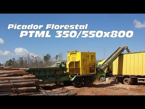 Picando árvores inteiras com o Picador Florestal PTML 350/550x800