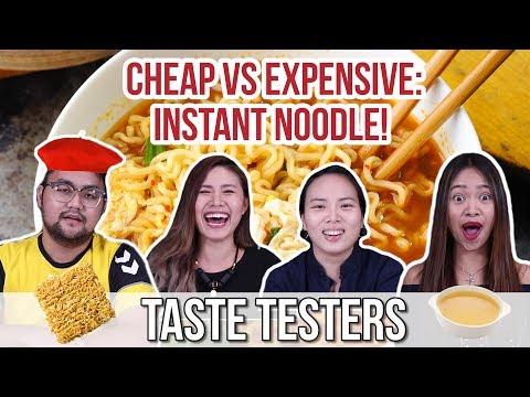 CHEAP VS EXPENSIVE: Instant Noodle! | Taste Testers | EP 13