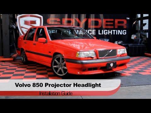 Spyder Auto Installation: 1993-97 Volvo 850 Projector Halo Headlights