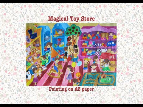Painting From My Fantasy World: Magical Toy Store