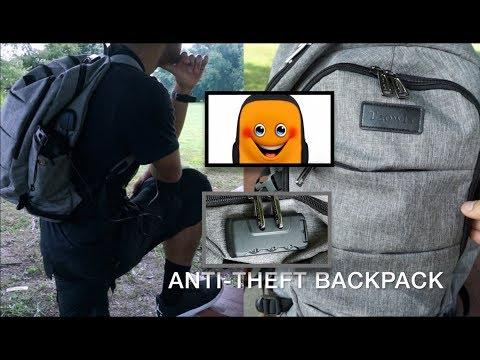 Tzowla Anti-Theft Tech Gadget Business Laptop Backpack 15.6