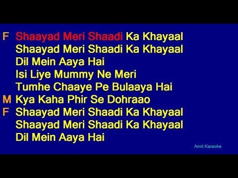 Video Shayad Meri Shaadi Ka Khayal - Kishore Kumar Lata Mangeshkar Duet Hindi Full Karaoke with Lyrics download in MP3, 3GP, MP4, WEBM, AVI, FLV January 2017
