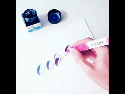 ecoline brushpen in combinatie met ecoline