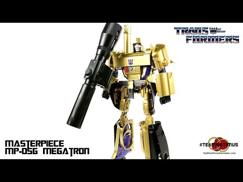 megatron - GET YOURS AT BIG BAD TOY STORE!!! http://bit.ly/BBTS_MP05G Video Review of the Takara MP-05G Masterpiece Megatron BUY AN OPTIBOTIMUS T-SHIRT! http://teesprin...