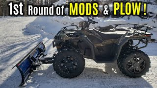 5. 2018 POLARIS Sportsman 1000 XP HUNTER - First MODS & Overview | Glacier PRO Plow Setup