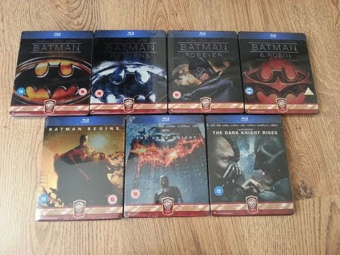 Complete Batman Blu-ray Steelbook Collection - All 7 Movies Including Begins, Dark Knight And More